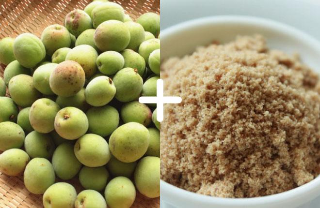梅 1kg + マスコバド糖 1kg